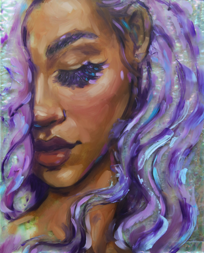 """Violet"" <br/> Original Painting <br/> in Private Collection at Beaumont, California"