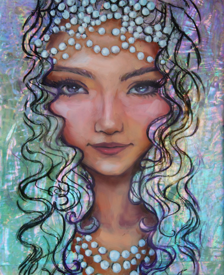 """Pearlescence"" <br/> Original Painting <br/> 8"" x 10"" <br/> Payment plans available from $44.23 per week"