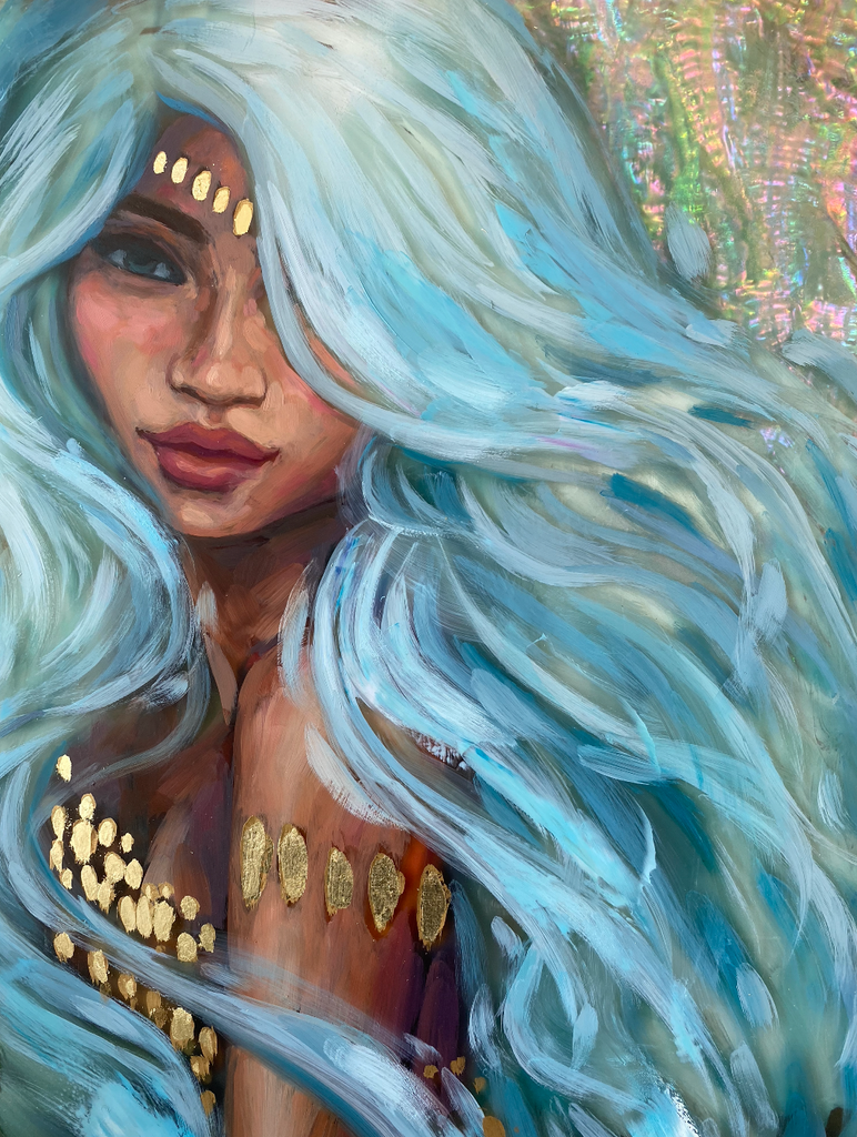 """Warrior Goddess"" <br/> Original Painting <br/> 11"" x 14"" <br/> Payment plans available from $63.46 per week"