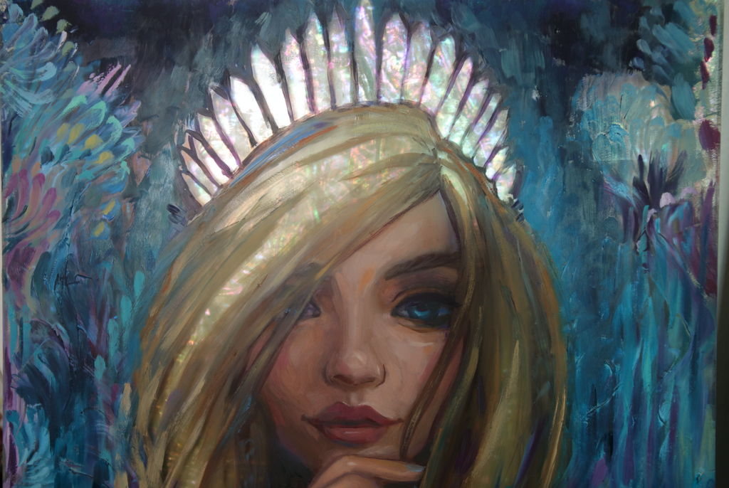 """Crystal Crown"" <br/> Original Painting <br/> 11"" x 14"" <br/> Payment plans available from $63.46 per week"