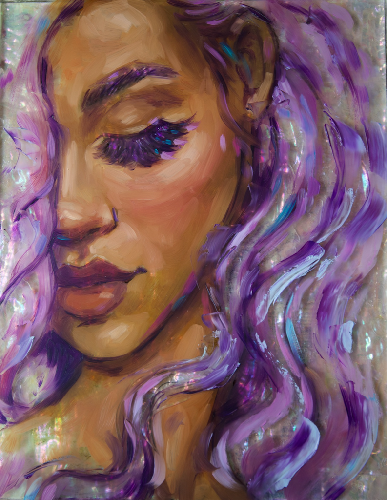 """Violet"" <br/> Original Painting <br/> in Private Collection at Beaumont, CA"