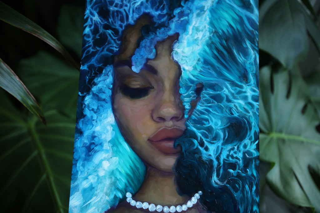 """Waves of Dreams"" <br/> Original Painting <br/> 8"" x 10""<br/>Payment plans available from $51.92 per week"
