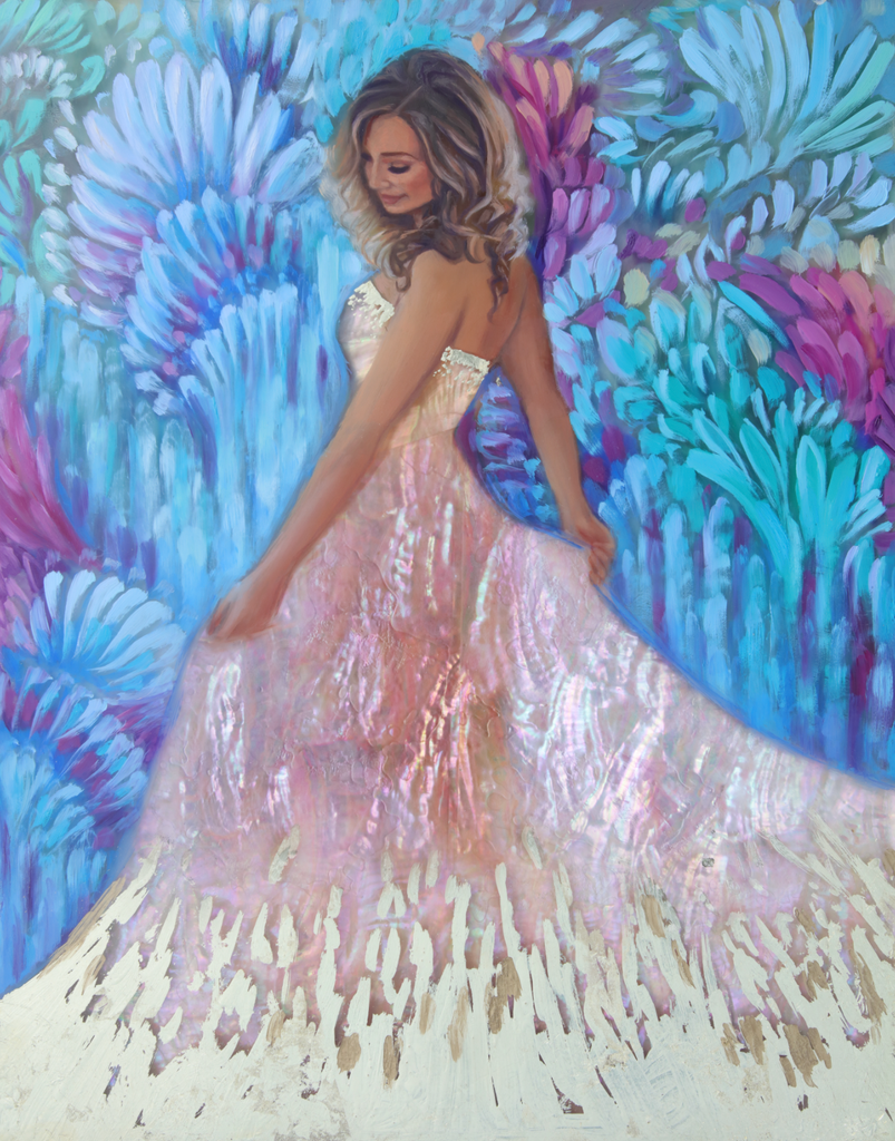 """Krystal Twirls"" <br/> Original Painting <br/> In Private Collection at Oldsmar, Florida"