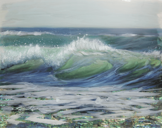 """Laguna Surf"" <br/> Original Painting <br/> in Private Collection at Tustin, California"