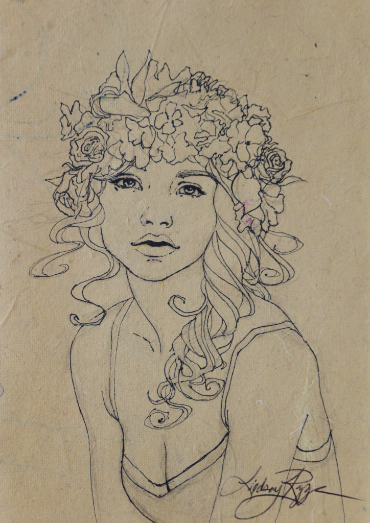 """Flower Child"" <br/> Original Sketch"