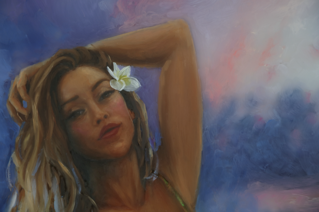 """Kanani"" <br/> Original Painting <br/> in Private Collection <br/> at Boulder, Colorado"