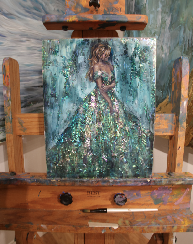 """Emerald"" <br/> Original Painting <br/> in Private Collection <br/> at Haddon Township, New Jersey"