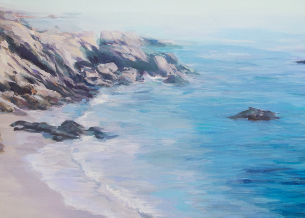"""Laguna Beach"" <br/> Original Painting <br/> in Private Collection <br/> at San Francisco, California"