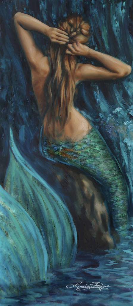"""Siren Sonata"" <br/> Original Painting <br/> in Private Collection <br/> at Laguna Beach, California"