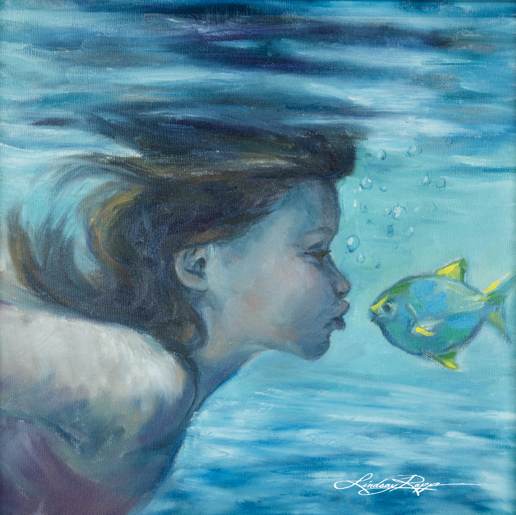 """Fish Lips"" <br/> Original Painting <br/> in Private Collection <br/> at Rancho Santa Margarita, California"