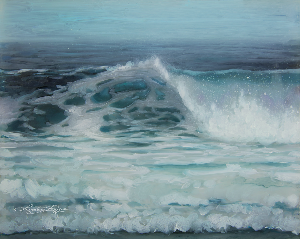 """Ocean Song"" <br/> Original Painting <br/> in Private Collection at Irvine, California"