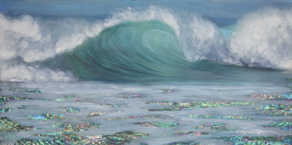 """Ocean Glisten"" <br/> Original Painting <br/> in Private Collection <br/> at Spring, Texas"