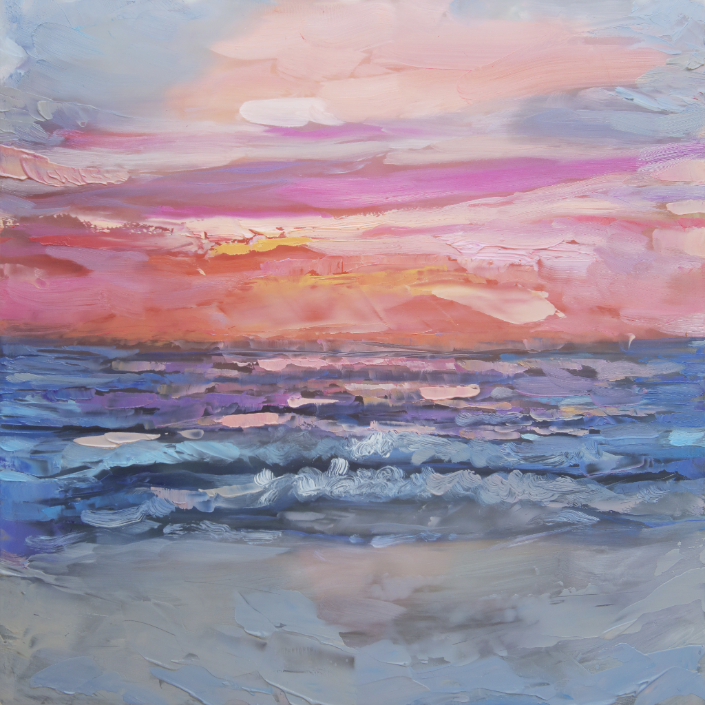 """Sunset"" <br/> Original Painting <br/> in Private Collection at </br> Ontario, Canada"