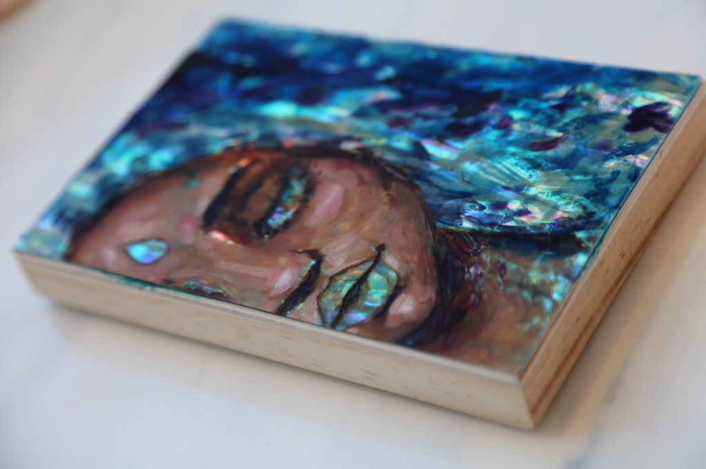"""Aquamarine"" <br/> Original Painting <br/>6"" x 4"""