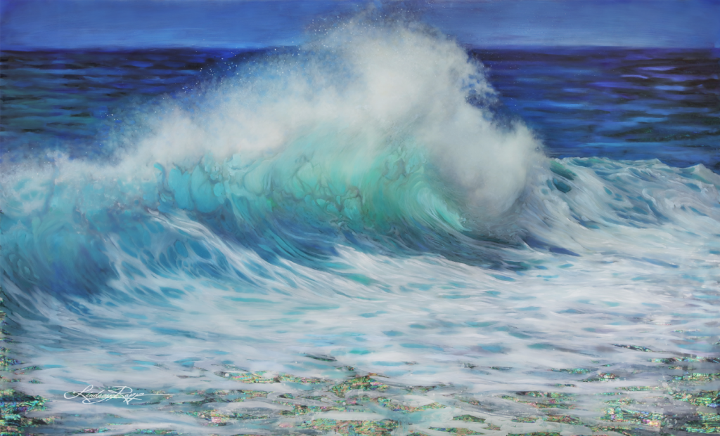"""Summer Wave"" <br/> Original Painting <br/> in Private Collection <br/> at Laguna Beach, California"