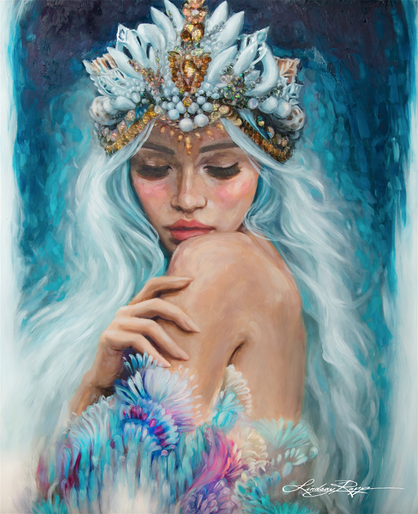 """Sea Queen"" <br/> Original Painting <br/> in Private Collection <br/> at Philadelphia, Pennsylvania"