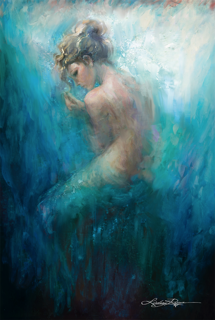 """Sitting Mer"" <br/> Original Painting <br/> in Private Collection <br/> in Philadelphia, Pennsylvania"