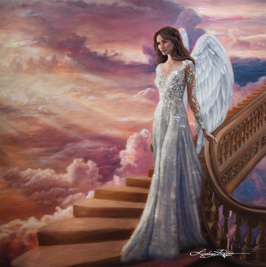 """Stairway To Heaven"" <br/> Original Painting <br/> in Private Collection <br/> at New York, New York"