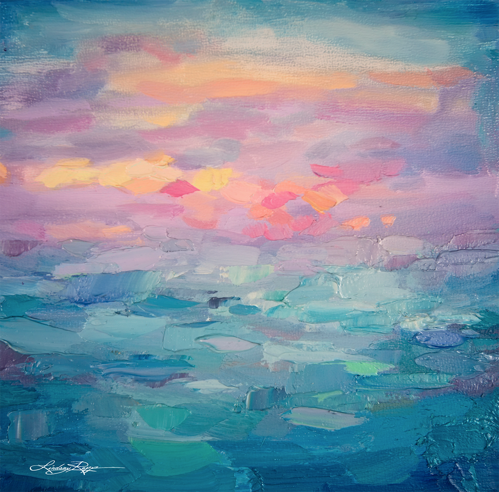 """Sunset Sea"" <br/> Painting"