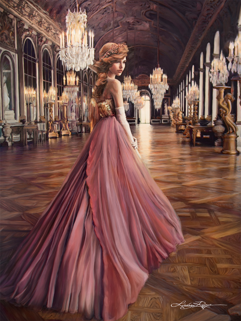 """Versailles"" <br/> Original Painting <br/> in Private Collection <br/> at Philadelphia, Pennsylvania"
