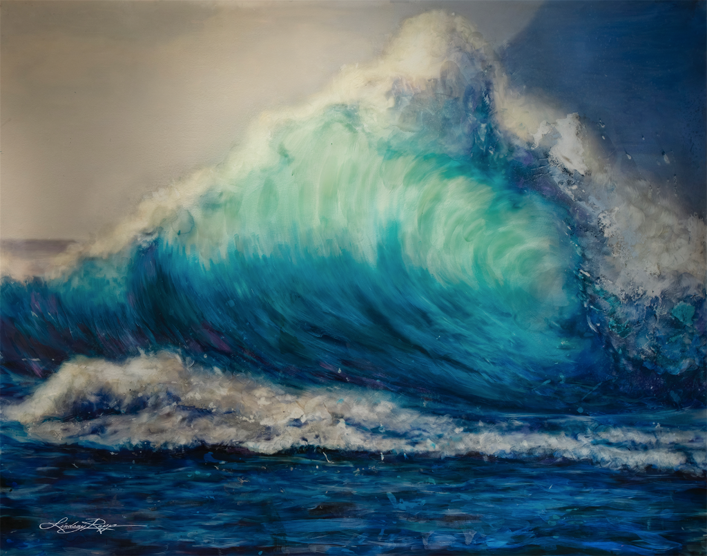 """Wave"" <br/> Original Painting <br/> in Private Collection <br/> at Beneden-Leeuwen, Netherlands"