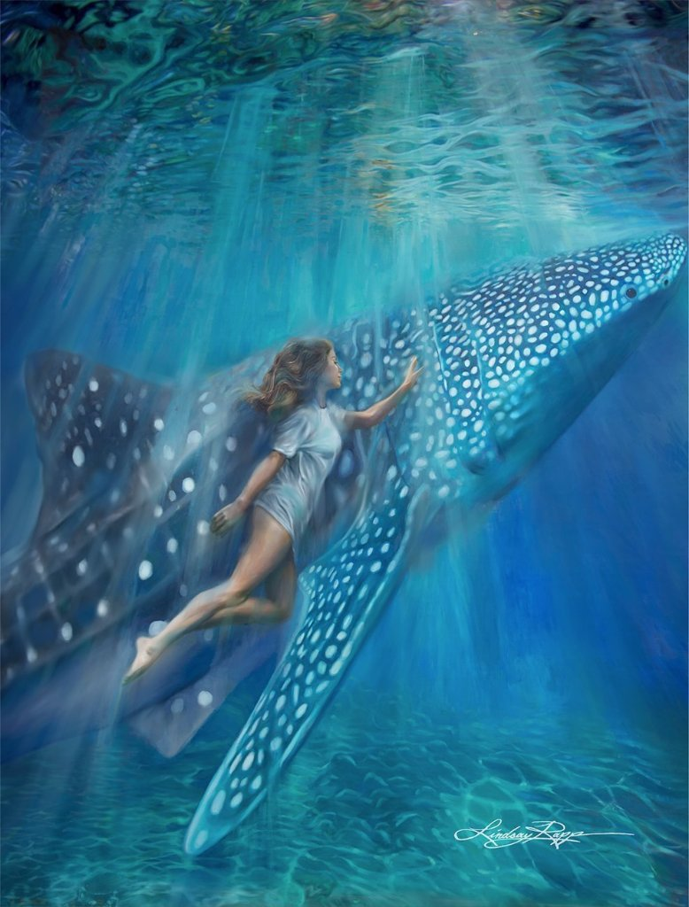 """Whale Shark"" <br/> Original Painting <br/> in Private Collection <br/> at Beneden-Leeuwen, Netherlands"