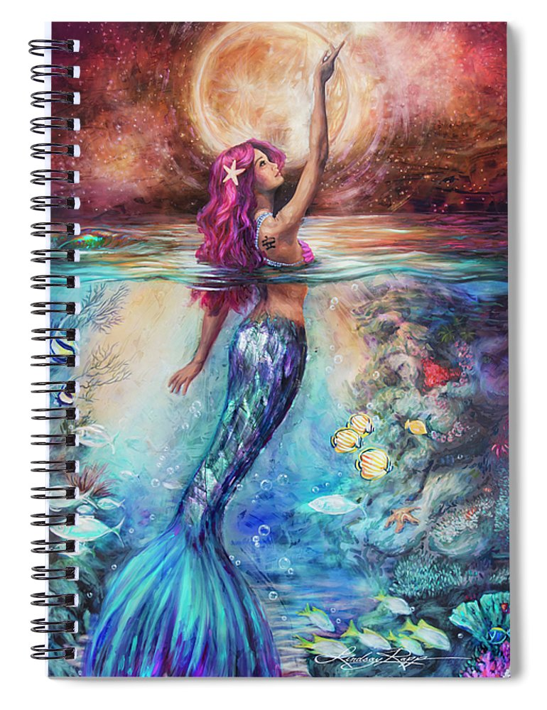 """Moonlit Siren"" Spiral Notebook"