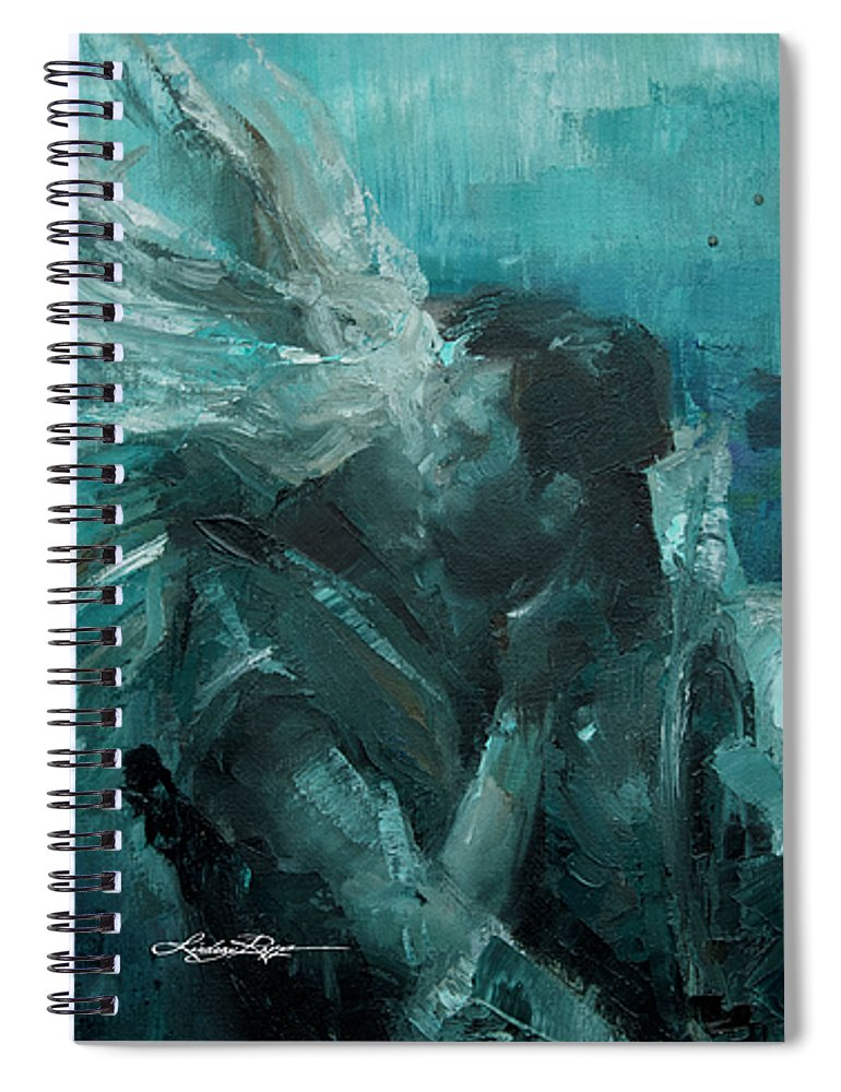 """Splash Kiss"" Spiral Notebook"