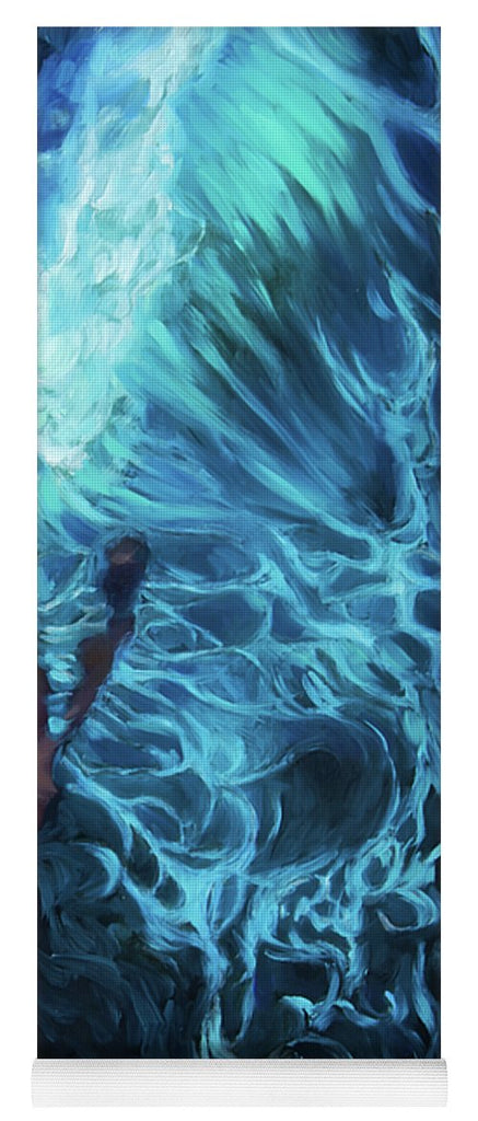 """Waves of Introspection"" Yoga Mat"