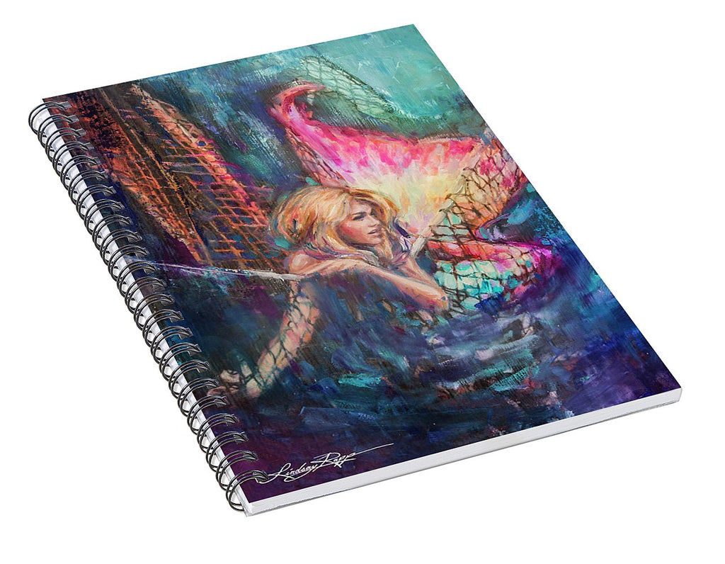 """Caught"" Spiral Notebook"