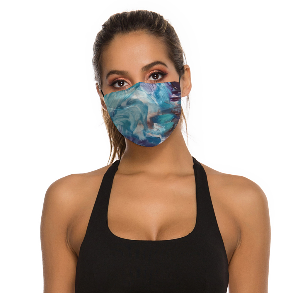 """Feeling Blue"" Face Mask with Filter"
