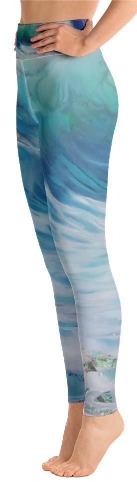 """Summer Wave"" Yoga Leggings"