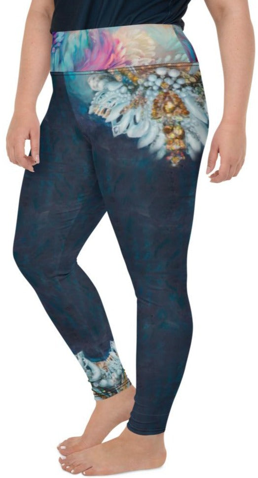 """Sea Queen"" Plus Size Leggings"