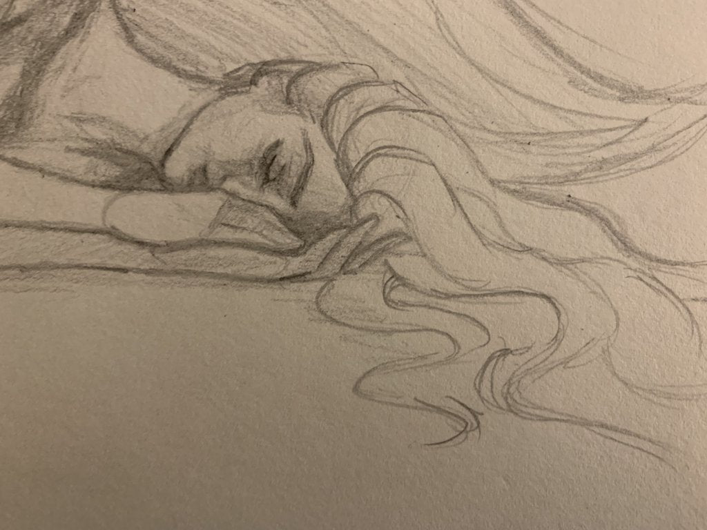 """Dreaming"" <br/> Original Sketch"