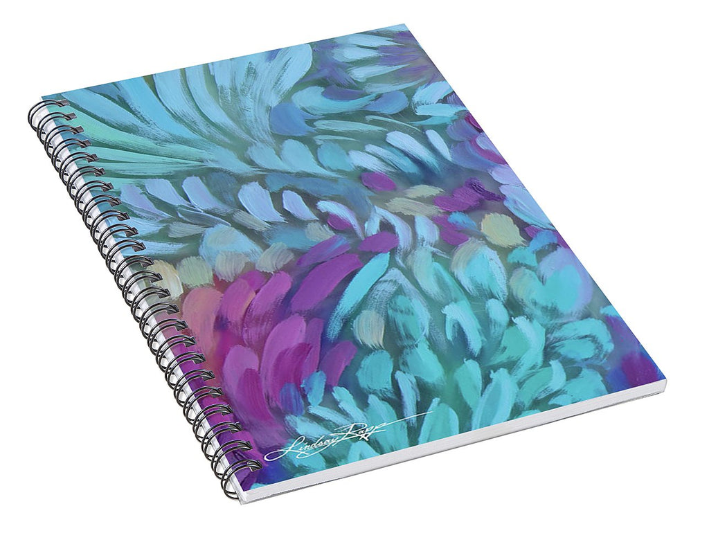 """Krystal Twirls Detail"" Spiral Notebook"