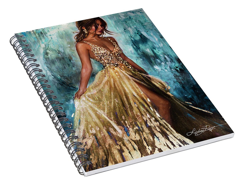 """Luminescence"" Spiral Notebook"