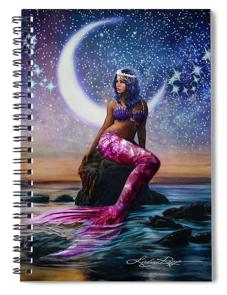 """Luna"" Spiral Notebook"