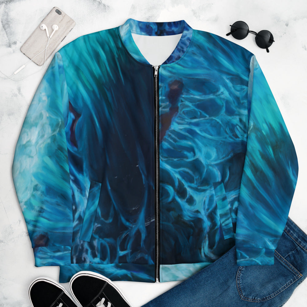 """Waves of Dreams"" Bomber Jacket"
