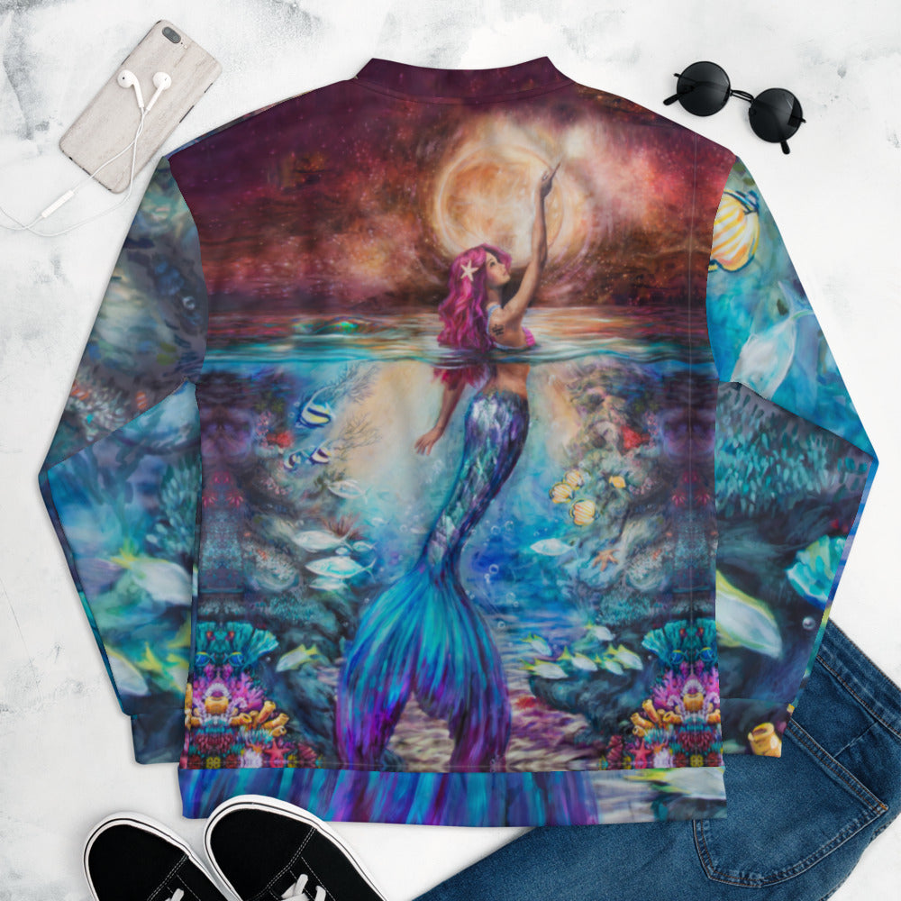 """Moonlit Siren"" Bomber Jacket"