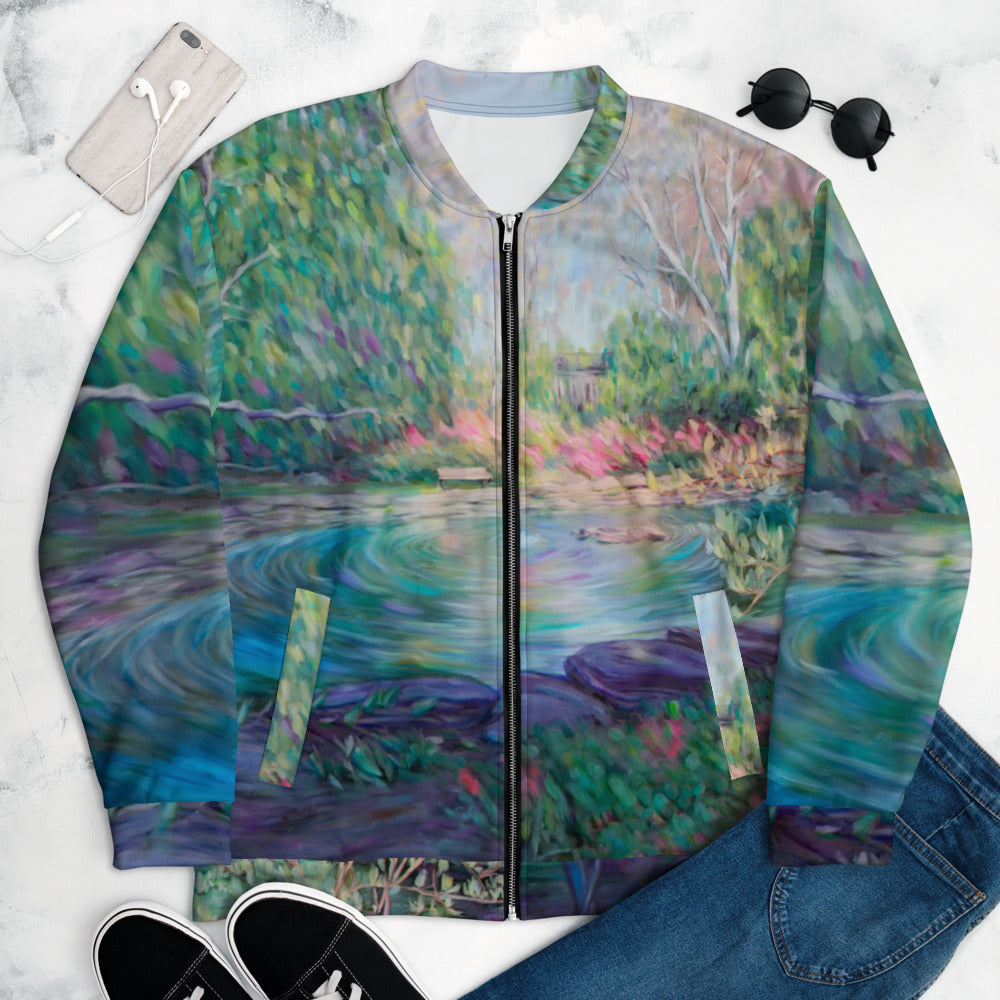 """Bio Pond"" Bomber Jacket"