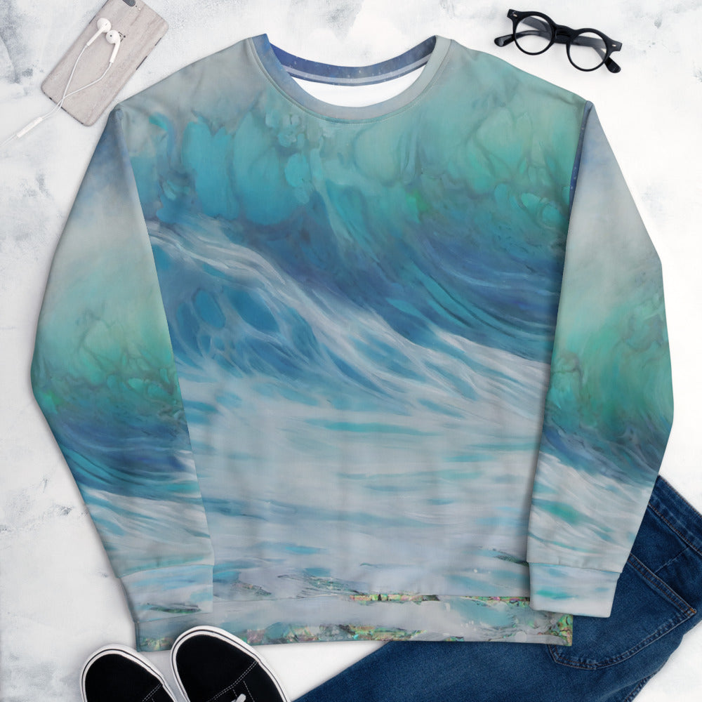 """Summer Wave"" Detail Sweatshirt"