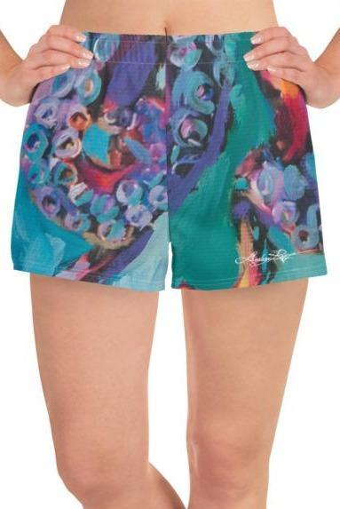 """Octopus"" Athletic Shorts"