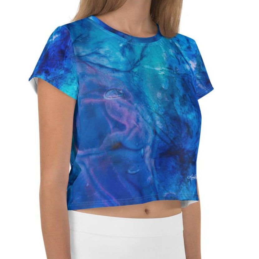 """Ocean Floor"" Crop Top"