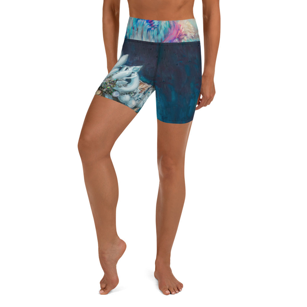 """Sea Queen"" Yoga Shorts"