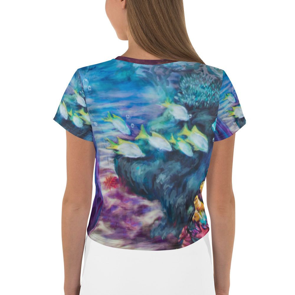 """Moonlit Siren"" Crop Top"