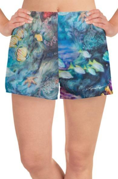 """Moonlit Siren"" Athletic Shorts"