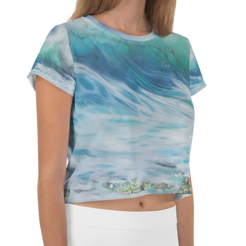 """Summer Wave"" Detail Crop Top"
