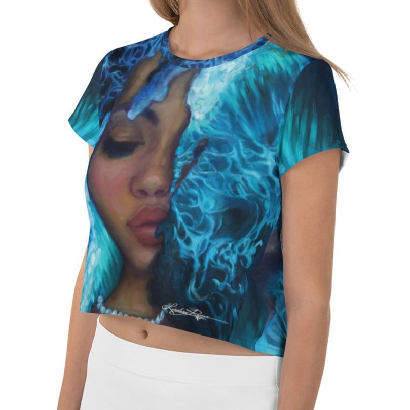 """Waves of Introspection"" Crop Top"