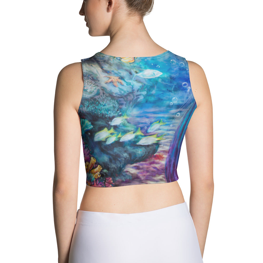 """Moonlit Siren"" Crop Tank"