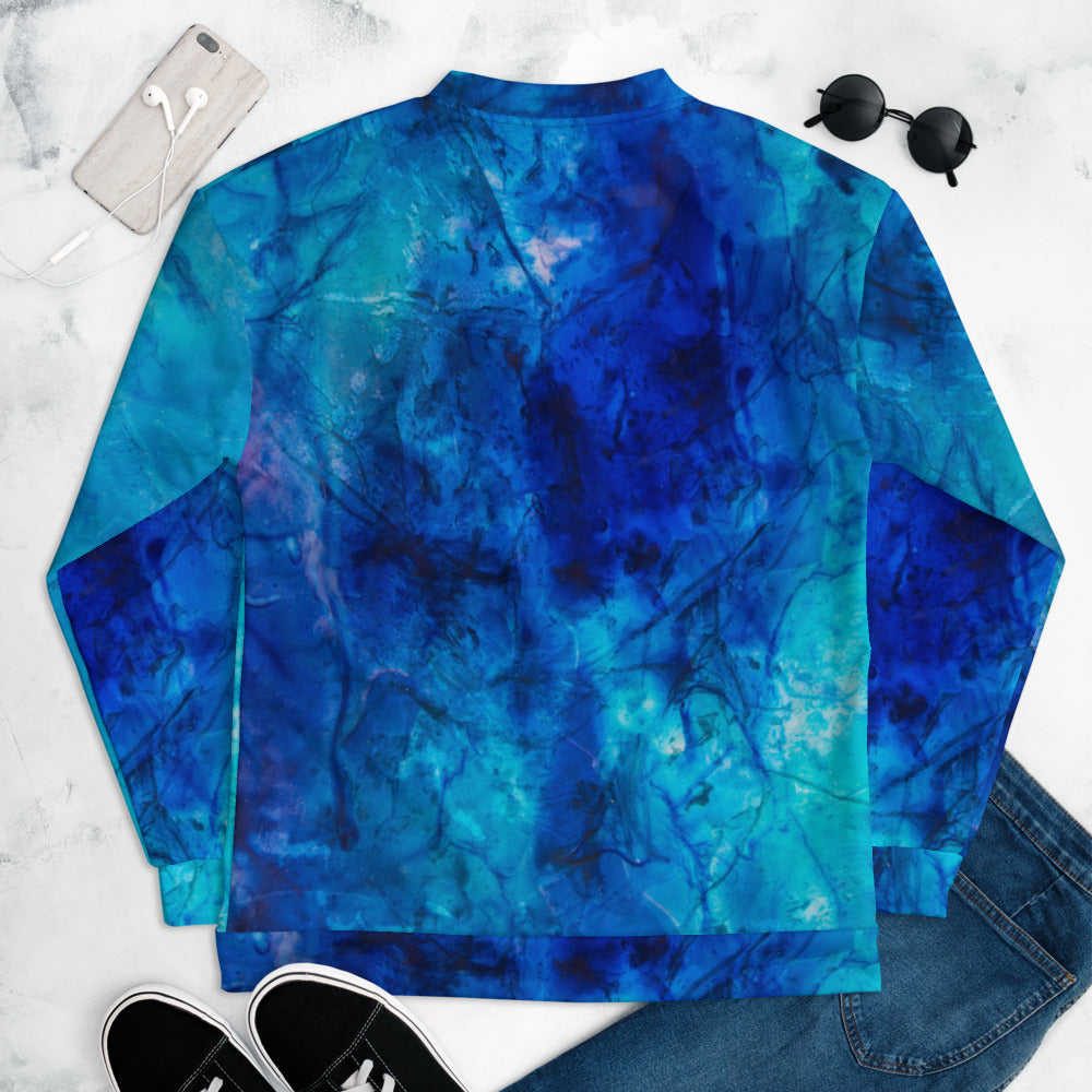 """Ocean Floor"" Bomber Jacket"